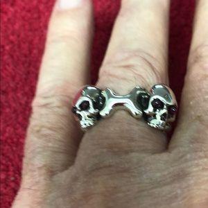Men's Unisex Stephen Webster double skull band